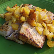 Grilled Swordfish With Pineapple-Plantain Chutney