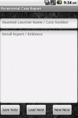 Paranormal Case Report