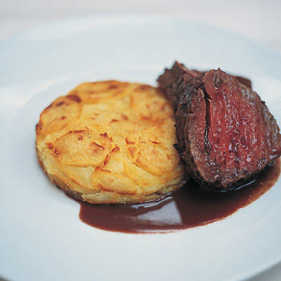 Marinated & Pot-roasted Beef Fillet With A Brilliant Potato & Horseradish Cake