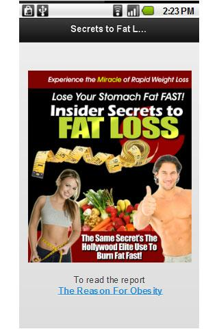 Secret to Fat Loss