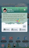 Screenshot of GO SMS Pro Paradise Theme