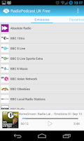 Screenshot of RadioPodcast UK Free