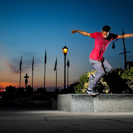 Golden hour blunt slide  by Kelvin Fanas - Sports & Fitness Skateboarding