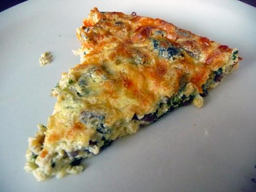 Mushroom Spinach & Gruyere Crustless Quiche Recipe | Yummly