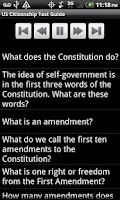 Screenshot of US Citizenship Test Guide 2013
