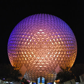 Epcot Dome by David Gilchrist - Buildings & Architecture Other Exteriors ( iconic symbol, starship earth dome, epcot, disney, attraction )