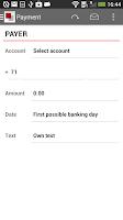Screenshot of Lån & Spar Bank mobilbank