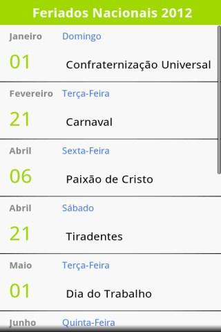 Feriados Brasileiros 2015
