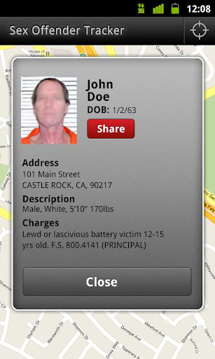 sex-offender-search for android screenshot. 4.6 56284 ratings