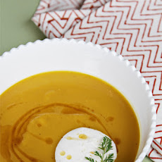 Butternut Squash Soup with Brown Butter and Nutmeg Crème