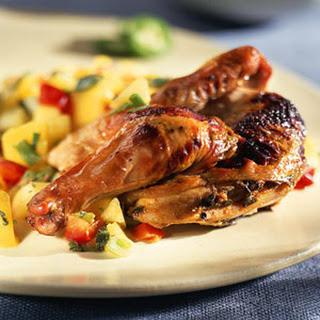 "Pair-o-Normal Game Hens with ""Break on Through to the Other Side"" of Mango Salsa"
