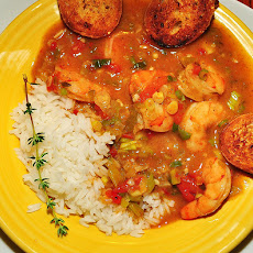 Shrimp and Rice With Sweet Red Sauce