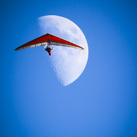 fly me to the moon by Adam Bain - Sports & Fitness Other Sports ( extreme sports, hanggliding, sports, hang gliding )