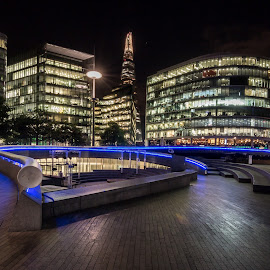 After Dark by Tavi Ionescu - Buildings & Architecture Architectural Detail ( building, shard, london, london shard, after dark, buildings, architecture, central, united kingdom )