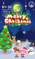 Screenshot of Love in Christmas Locker Theme