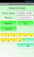 Screenshot of Islamic Date Calculator
