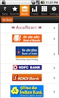 Screenshot of Rupee Exchange Rates & Trend