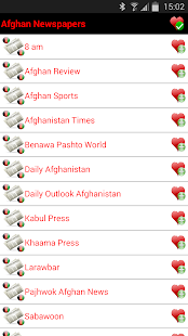 Afghan Newspapers - screenshot