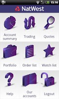 Screenshot of NatWest Stockbrokers