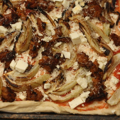 Spring Pizza with Artichokes, Leeks, and Shallots