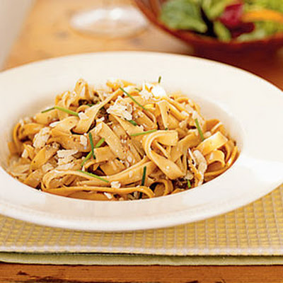 Creamy Fettuccine with Porcini Mushrooms