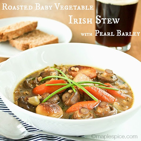 Roasted Baby Vegetable Irish Stew with Pearl Barley