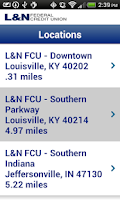 Screenshot of L&N FCU Mobile Banking