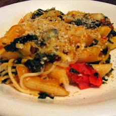 Penne and Spinach Bake