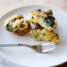 Mini Spinach and Jarlsberg Quiche