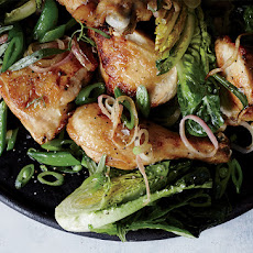 Chicken with Buttered Snap Peas and Tender Lettuces