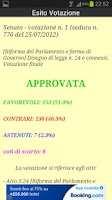 Screenshot of Parlamento Italiano
