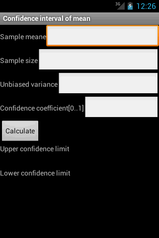 Confidence Interval of Mean
