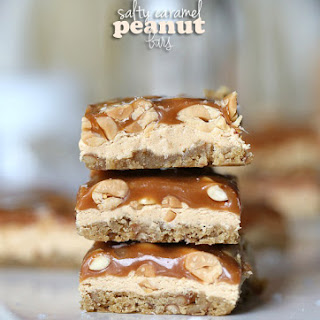 Salty Caramel Peanut Bars