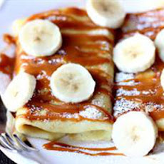 Salted Caramel Banana Blintzes