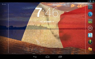 Screenshot of 3D France Flag Live Wallpaper