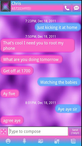 Candy Clouds Go SMS Pro Theme