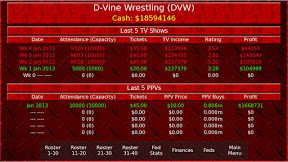 Screenshot of Wrestling Booker Game