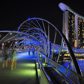 THE HELIX BRIDGE AT MARINA BAY SANDS by FRANCIS PAY - Landscapes Travel (  )