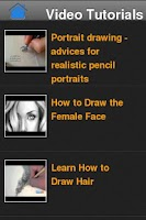 Screenshot of Pencil Drawings