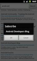 Screenshot of Droid Google Reader