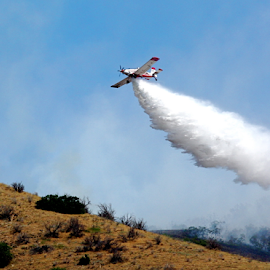 Fire Plane 1 by Dennis Robertson - News & Events Disasters ( airplane )