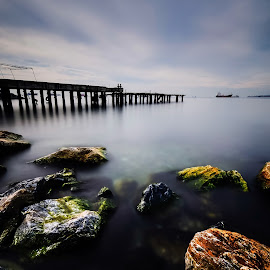 Pier by Rizvan Talha Kaynak - Buildings & Architecture Other Exteriors ( haida nd, waterscape, d300, pier, turkey, istanbul, seascape, nikon, landscape, longexposure )