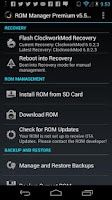 Screenshot of ROM Manager