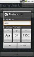 Screenshot of Biorhythm U