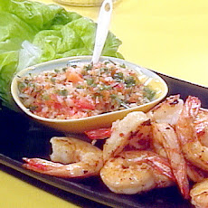 Grilled Jumbo Shrimp and Pickled