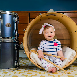 Drumma chick by Jason Zollan - Babies & Children Child Portraits