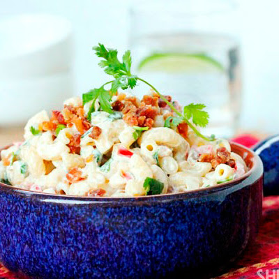 Macaroni Salad With Bacon And Cilantro