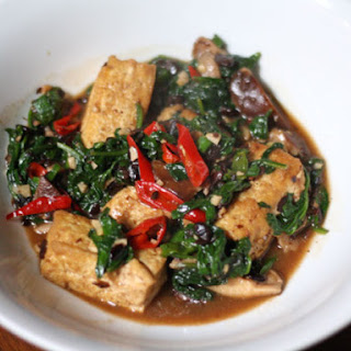 Home-Style Tofu with Mushrooms, Spinach, and Fermented Black Beans