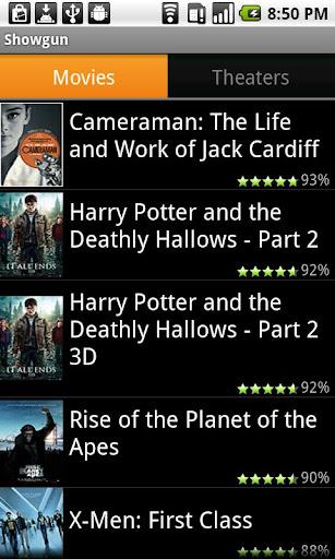 電影放映時間為Android