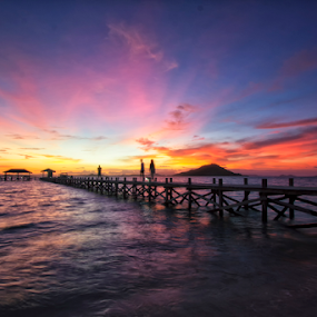 Sunset at Kanawa ISland by Novra Ayamo - Landscapes Sunsets & Sunrises